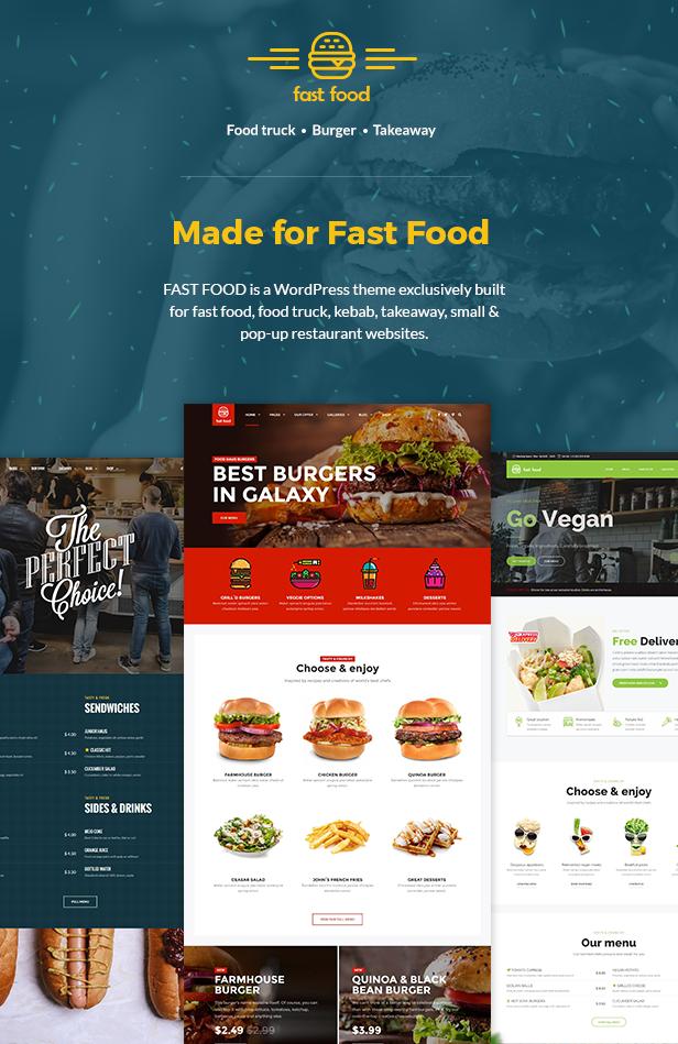 Fast Food - WordPress Fast Food Theme - wordpress, themeforest, retail