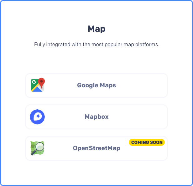 Map search real estate theme, Google maps, Mapbox