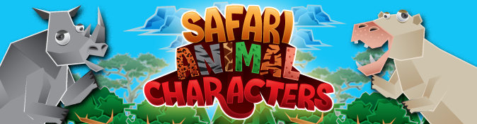 Safari Animal Characters