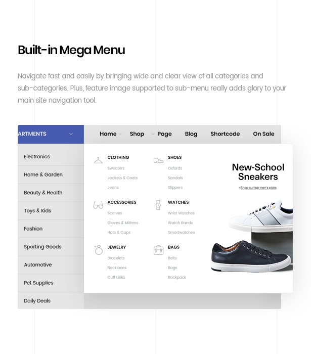 ezboozt woocommerce wordpress theme megamenu