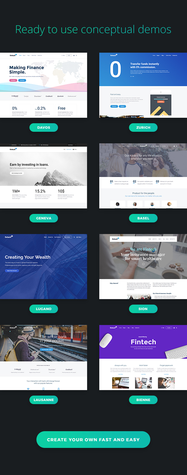 Fintech WP - Financial Technology and Services WordPress Theme - 1