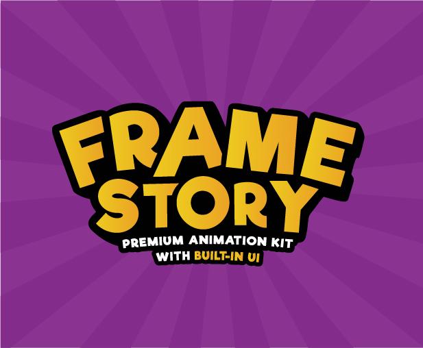 AE脚本/模板-5000组高级二维卡通人物角色动作绑定服饰搭配场景MG动画工具包 FrameStory-商CG官网