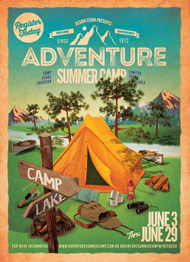 Adventure Summer Camp Flyer Template