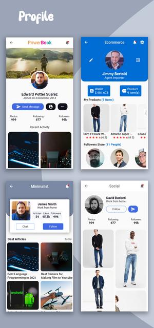 Material Design - Flutter Ui Kit Android - 18