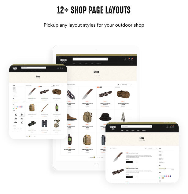12+ Shop Page Layouts Pickup any layout styles for your outdoor shop