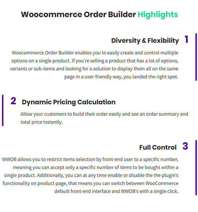 WooCommerce Order Builder | Combo Products & Extra Options - 1