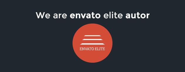 We are Envato Themeforest Elite Author