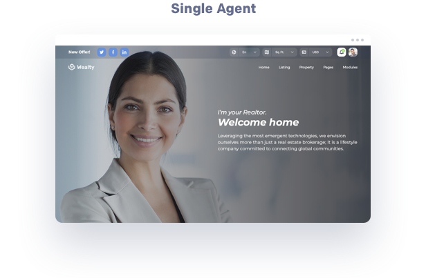 agents real estate wordpress theme