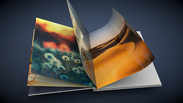 Flipping book 3d animation and 3d model