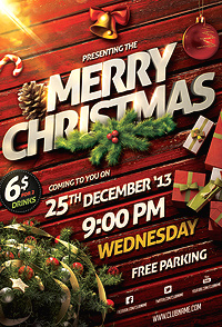 christmas party flyer template by saltshaker911 graphicriver