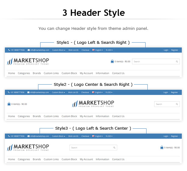 MarketShop - Multi-Purpose OpenCart Theme