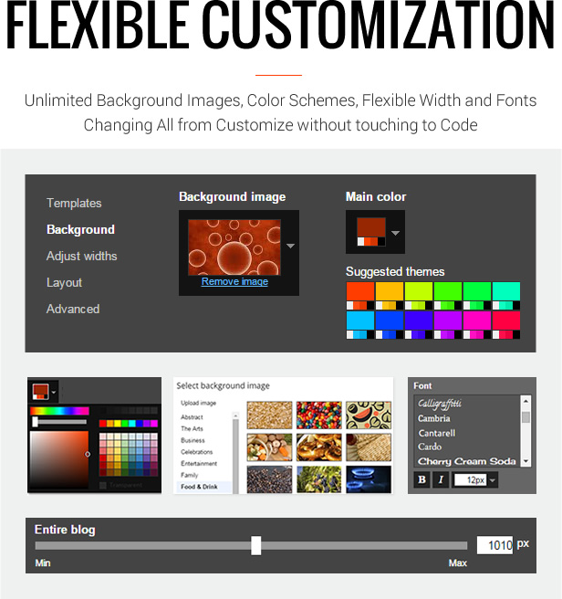 Flexible Customization - MagOne - Magazine Blogger Template