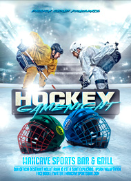 Hockey Game Ight Flyer Template