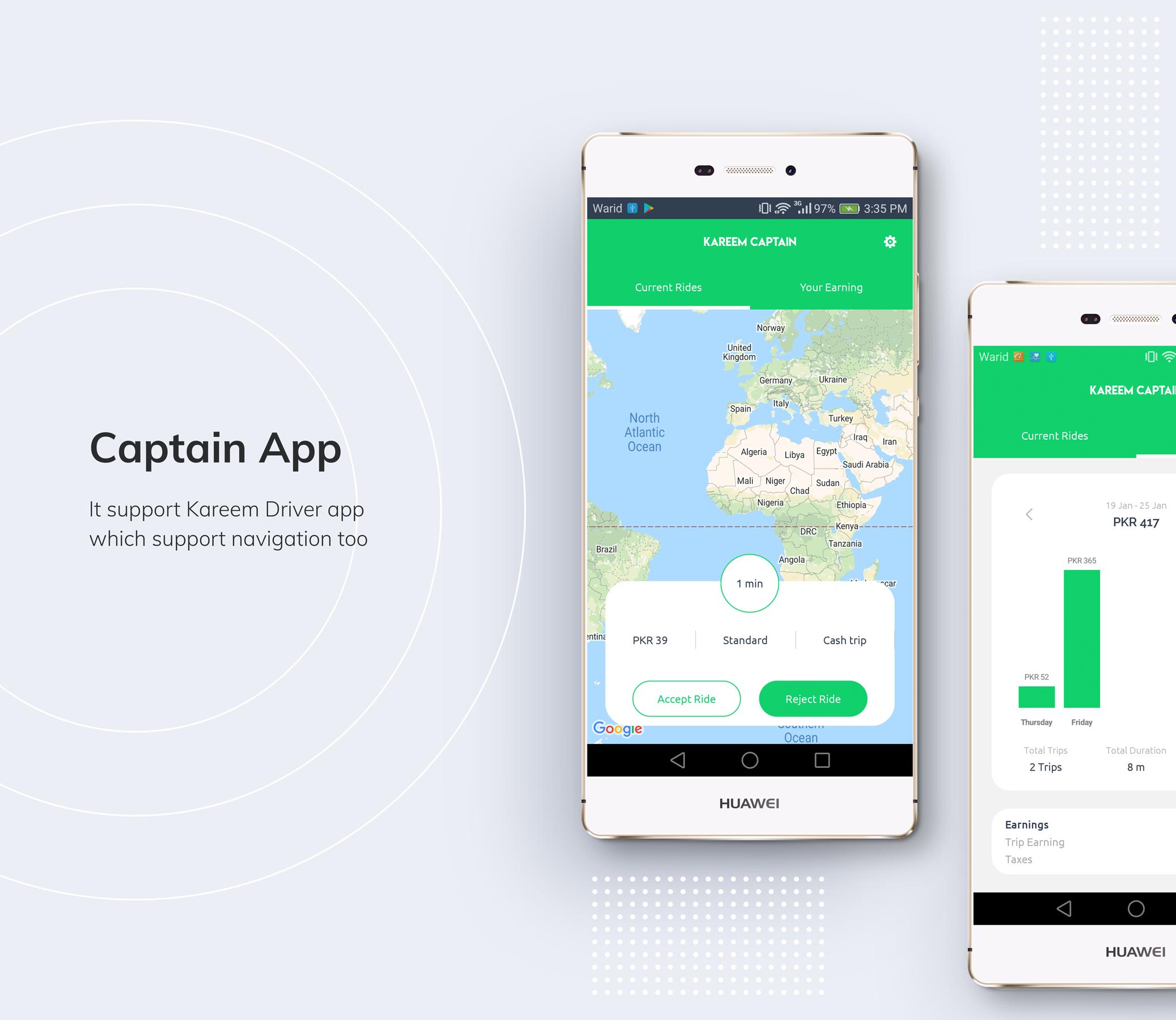 Kareem Taxi App - Cab Booking Solution + admin panel - 14