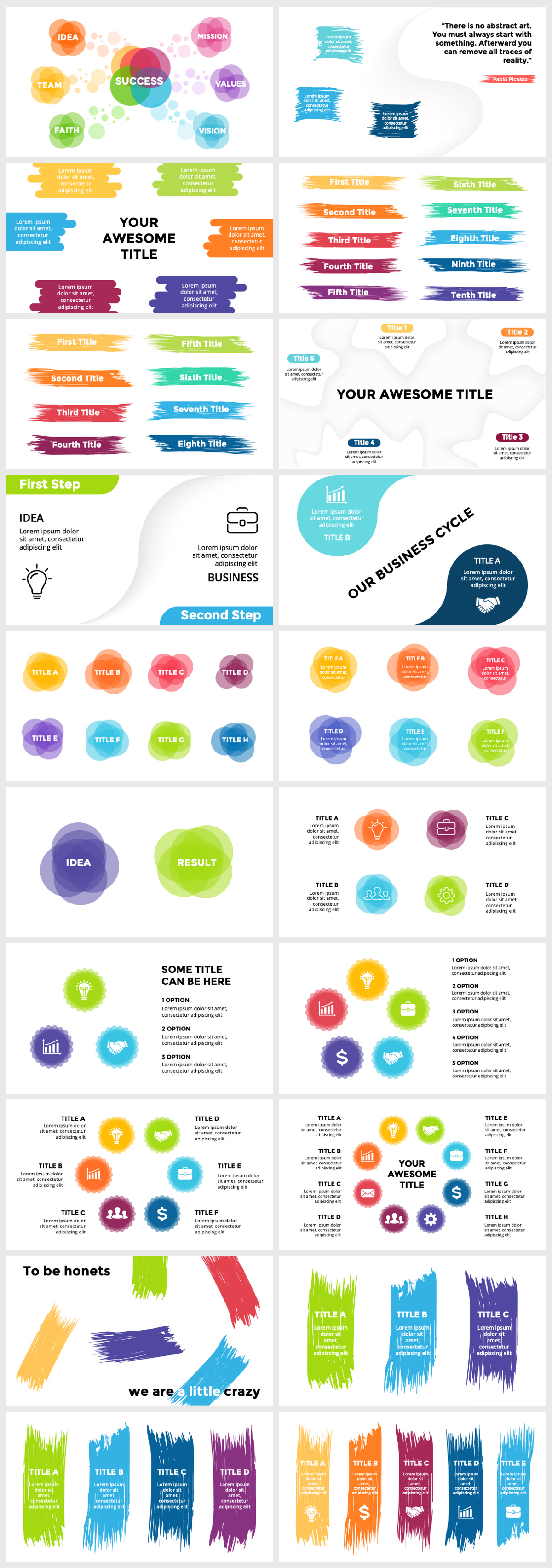 Huge Infographics Bundle! Lifetime Updates! PowerPoint, Photoshop, Illustrator. - 216