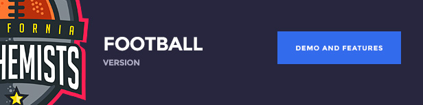 The Alchemists WordPress Theme - American Football version