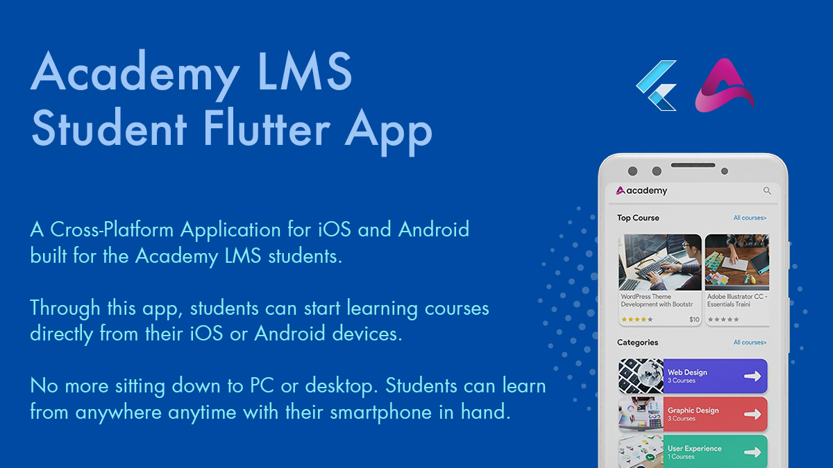 Academy Lms Mobile App - Flutter iOS & Android - 1