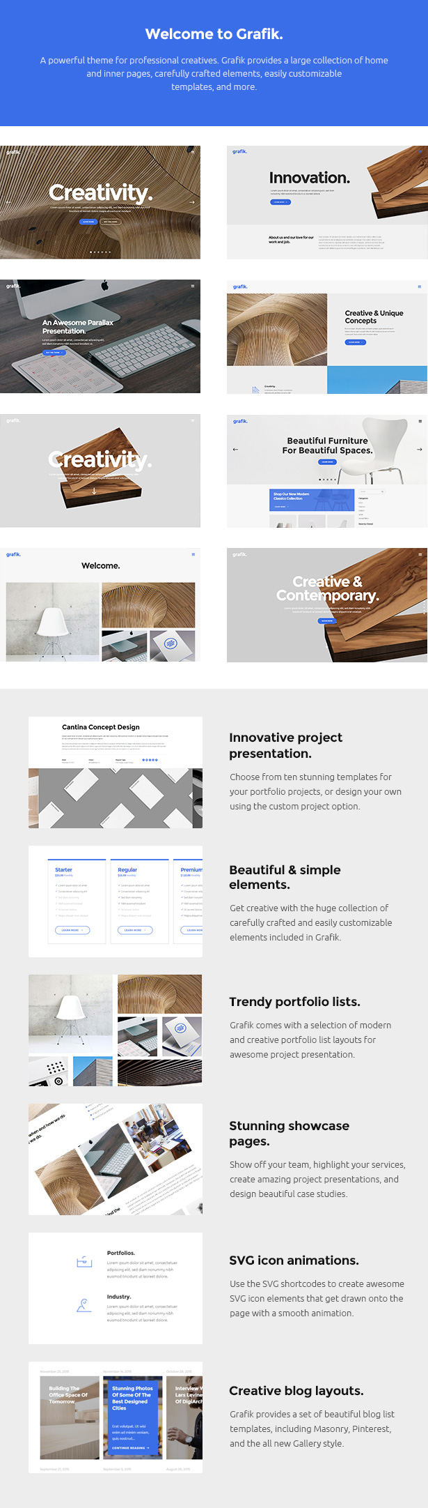 grafik architecture and design portfolio theme by select themes