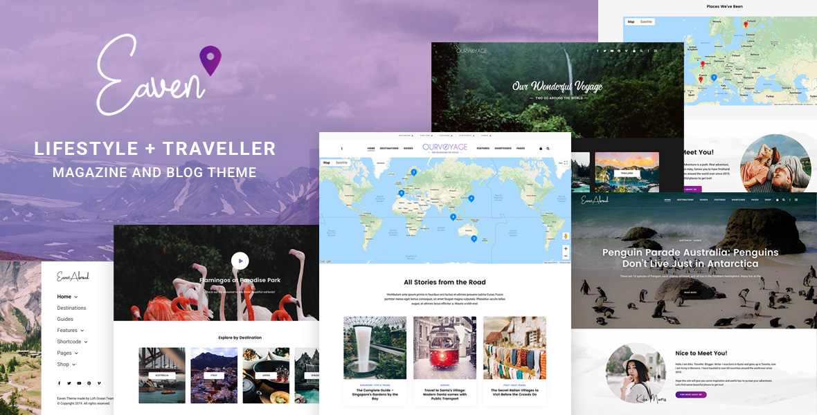 Eaven - Lifestyle & Traveller Magazine and Blog theme