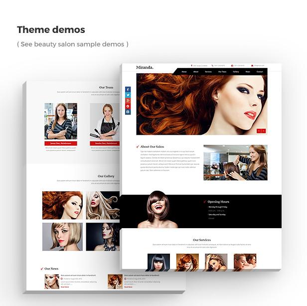 Miranda - Beauty Salon, Nail Salon Template - 8