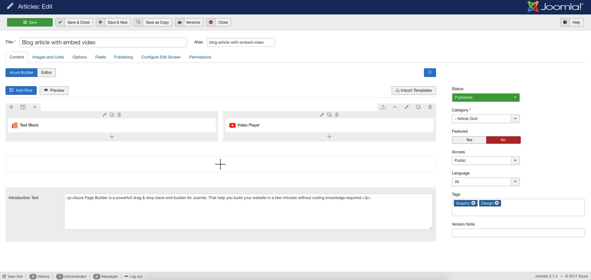 azura responsive joomla page builder by cththemes codecanyon