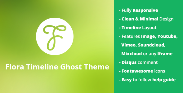 Flora - Responsive Timeline Ghost Theme - Ghost Themes Blogging