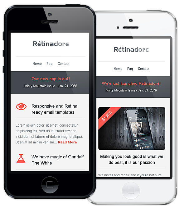 Retinadore Responsive Email Newsletter Template By Bedros - Good newsletter templates