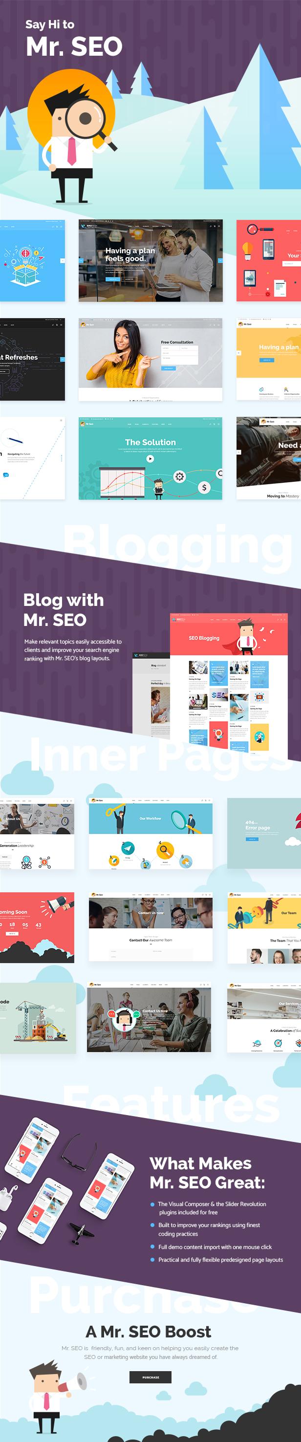 Mr. SEO - SEO, Marketing Agency and Social Media Theme - 1