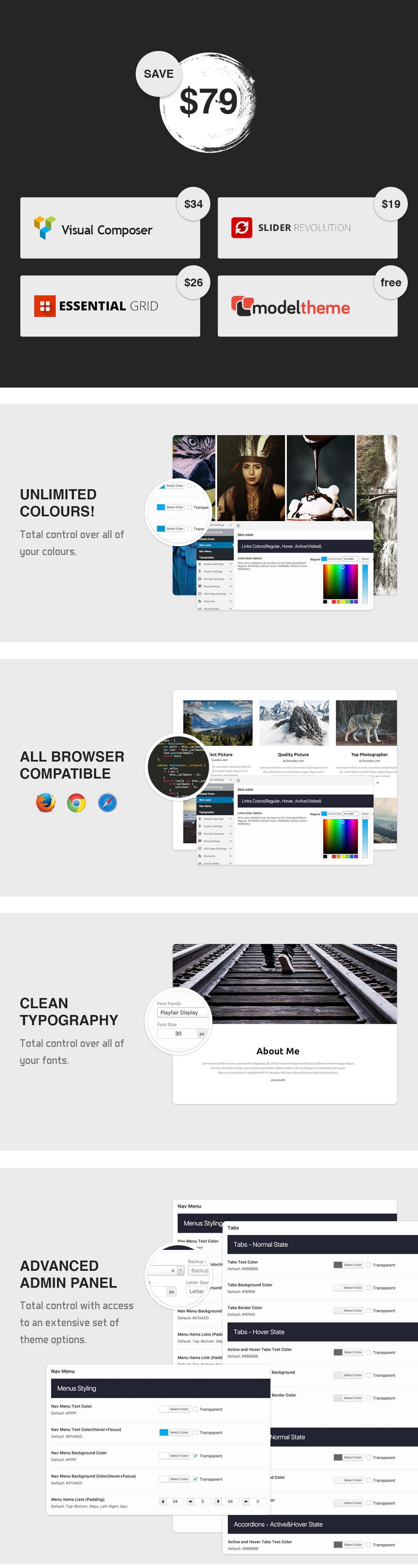 MT Photography - Eye-catching, Unique Photography WordPress Theme - 6