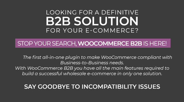 WooCommerce B2B - Description