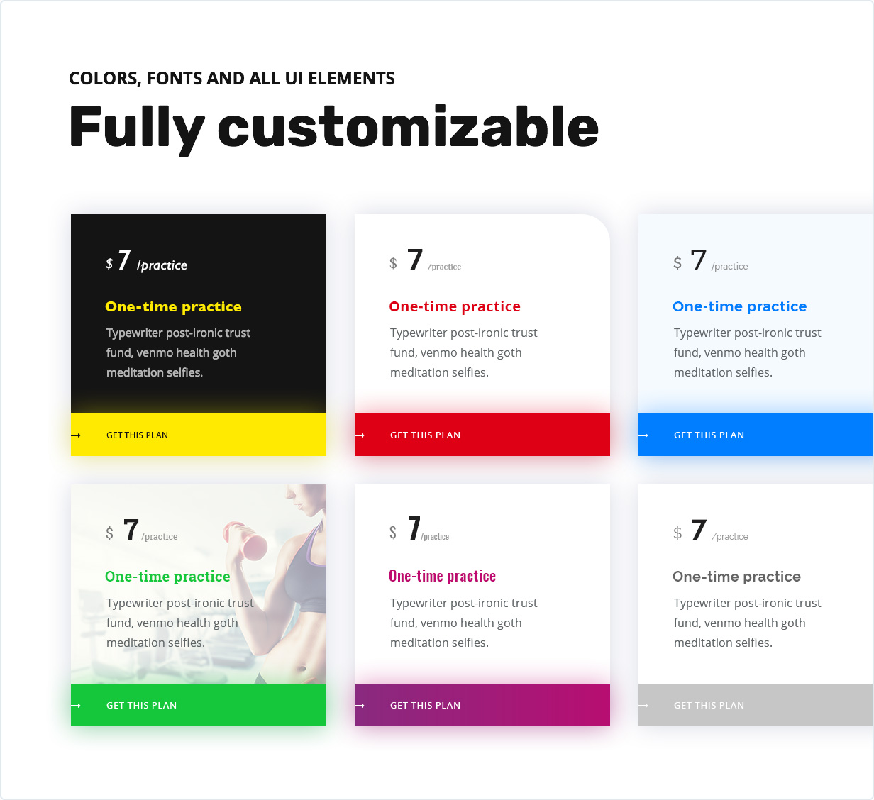 Fully Customizable Layout, Colors, Fonts and All UI Elements