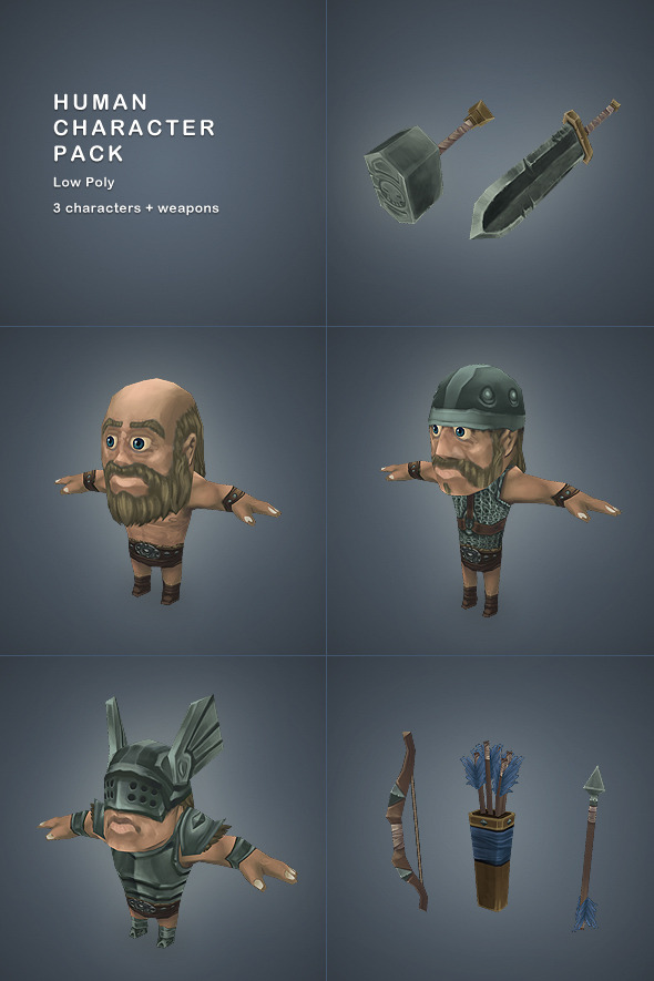 Low Poly Human Character Pack