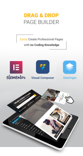 Education WordPress Theme - Seitenersteller per Drag & Drop