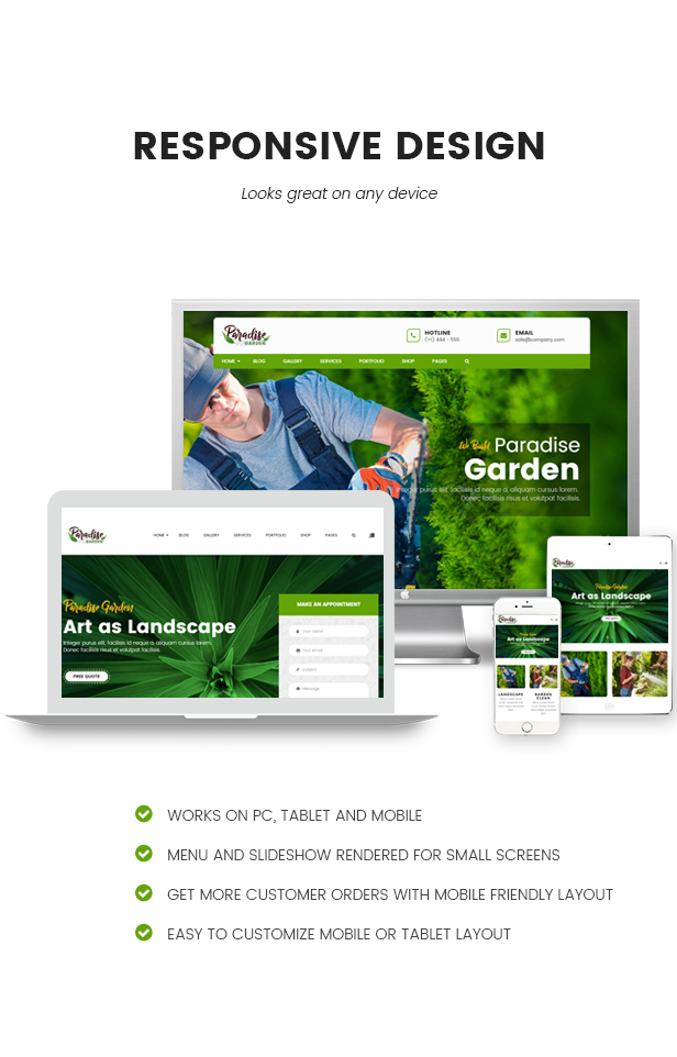 Paradise Garden - Gardening and Landscaping HTML Template