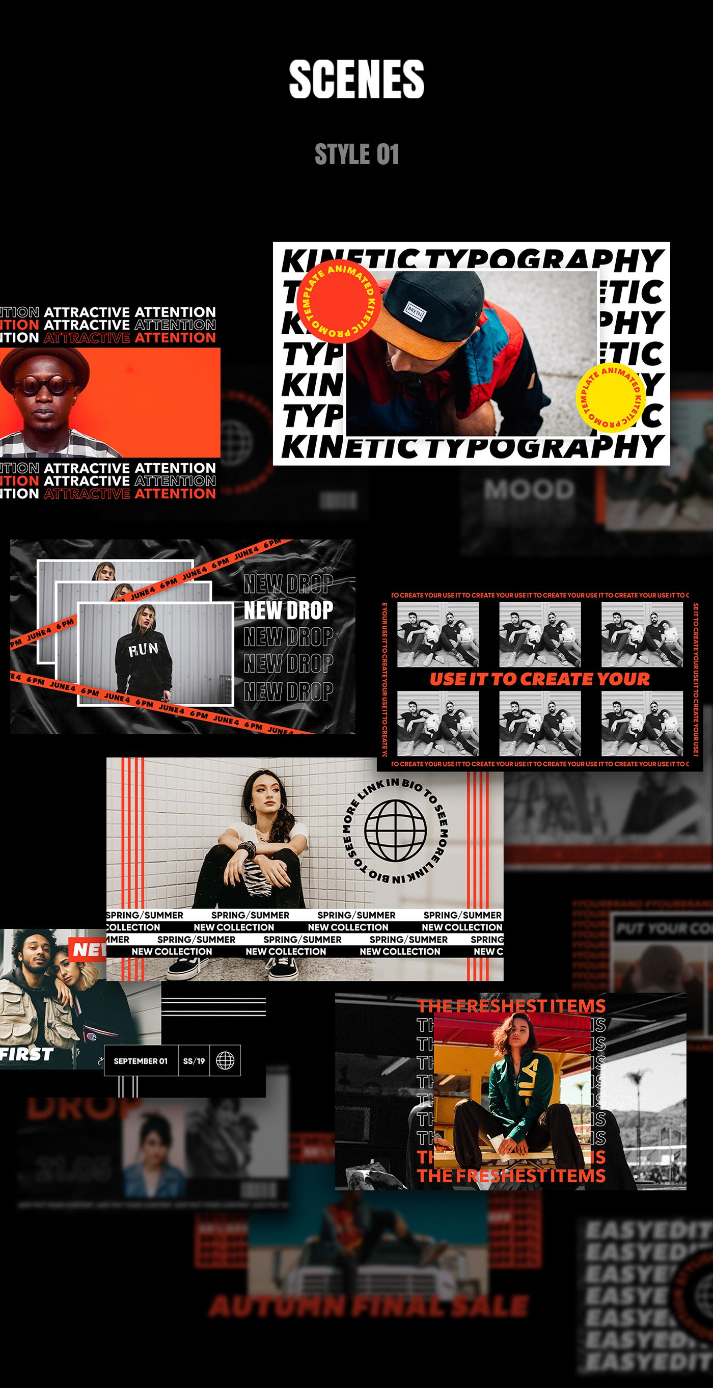 AE脚本-200多个创意文字标题排版时尚宣传视频包装动画工具包 Kinetic Social Pack for Win/Mac破解版插图8