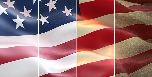 Realistic USA flag - 5