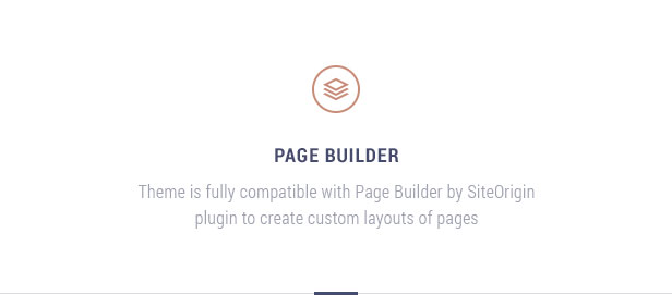 Page builder ready: Theme is fully compatible with Page Builder plugins like Visual Composer, Divi, Elementor, Beaver Builder, etc. to create custom layouts of pages