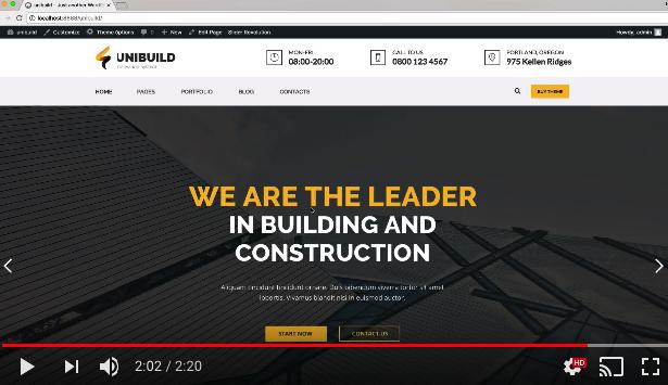 Unibuild | Technology Companies and Business WordPress Theme - 1