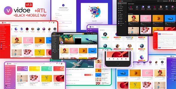 VIDOE - Video Streaming Website HTML Template - Entertainment Site Templates