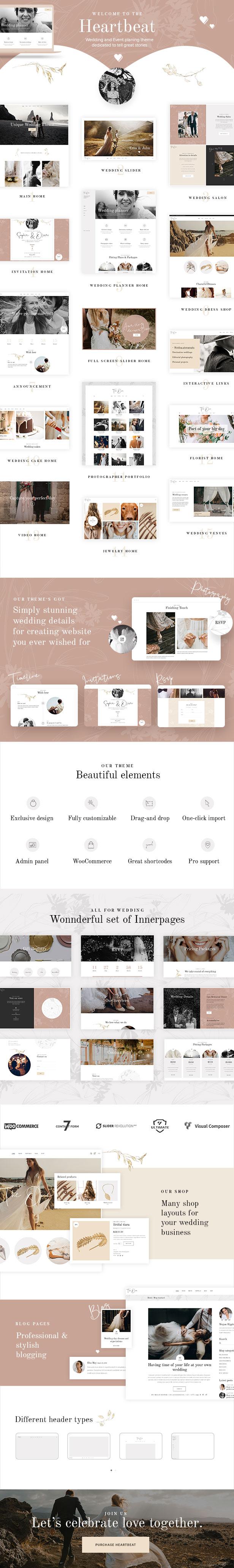 Heartbeat - Wedding and Event Planner WordPress Theme - 1