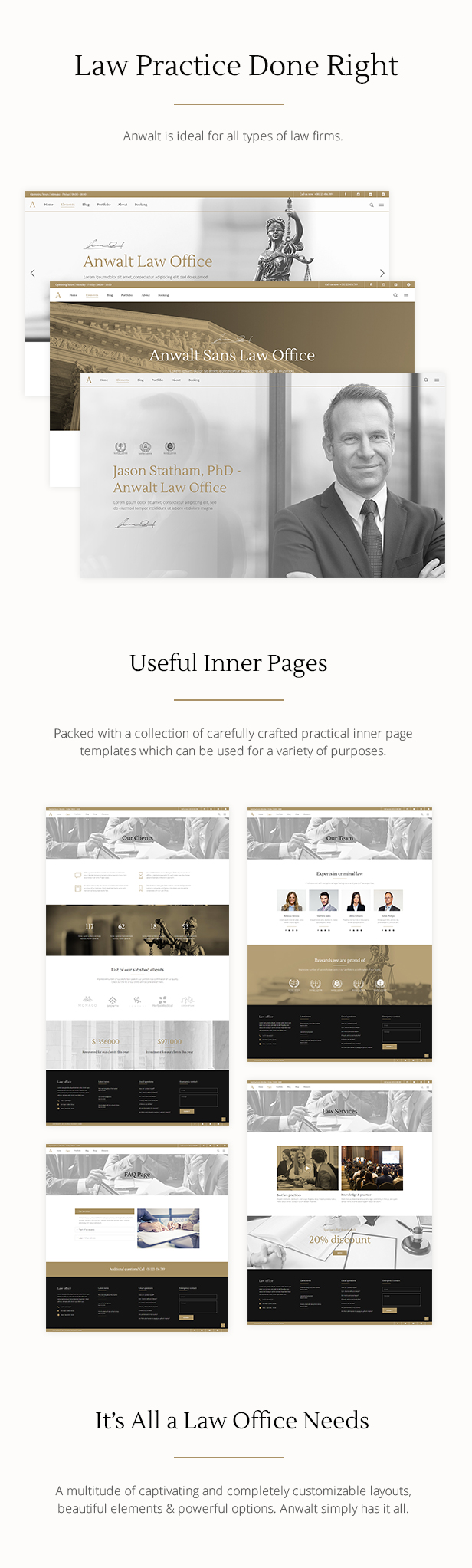 Anwalt - Lawyer and Law Office Theme - 1