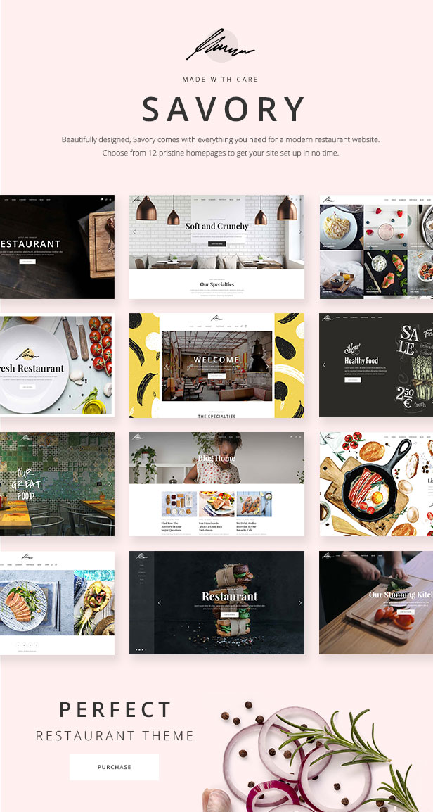 Savory - A Beautiful Restaurant WordPress Theme by Elated-Themes ...