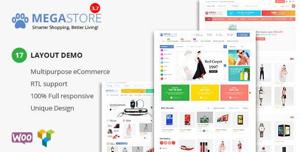 Mega Store - Super Market RTL Responsive WooCommerce WordPress Theme - WooCommerce eCommerce