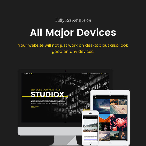 Ztudio X - Creative Studio Photography WordPress Theme For Photography (Studio X) - 7