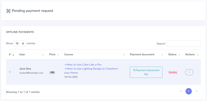 Academy LMS Offline Payment Addon - 3