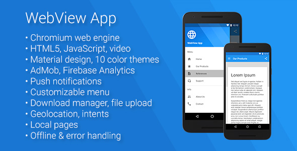 Universal Android WebView App