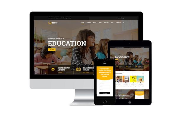 Mobile-Friendly Education WordPress-Theme