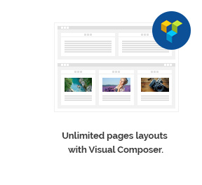 Unlimited pages layouts with Visual Composer.