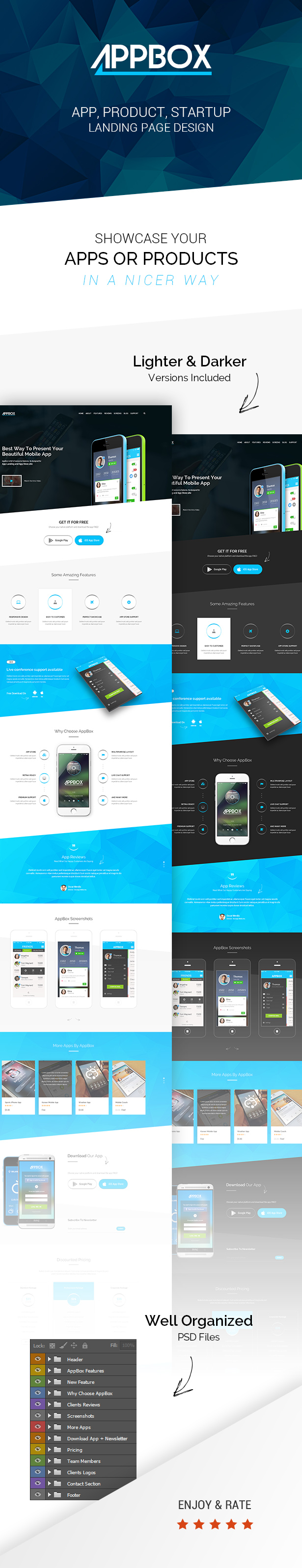AppBox - App Landing PSD Theme - 2