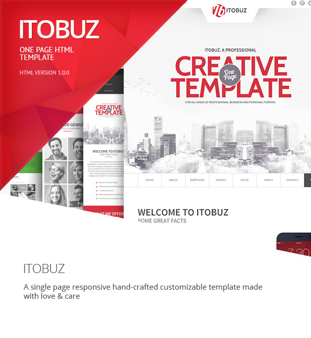 Itobuz One Page HTML Template - 7